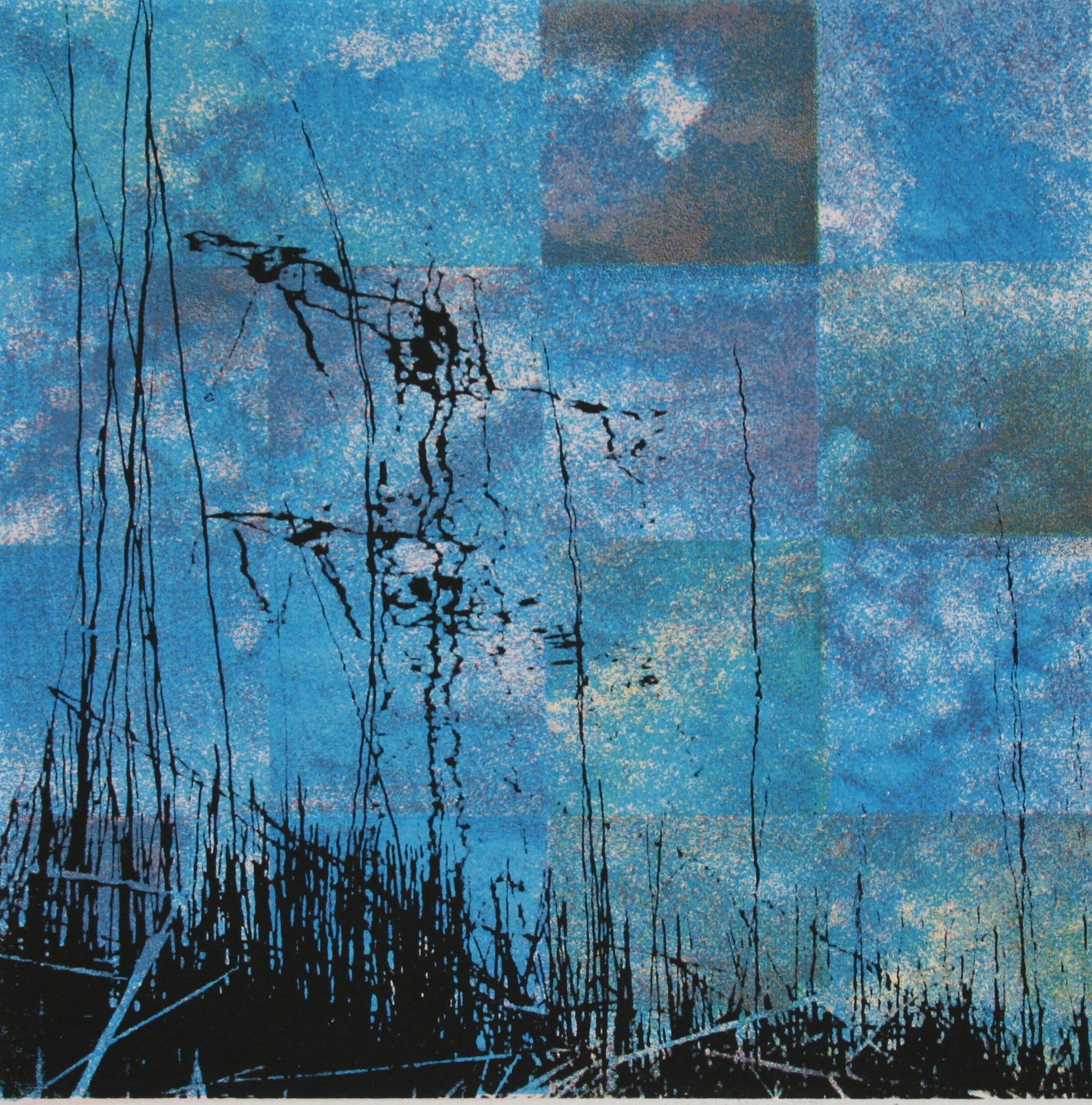 Luchtspiegeling (blauw) 20 x 20