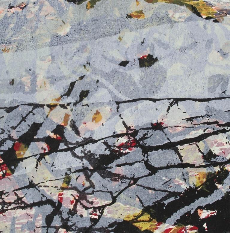Landlagen I zeefdruk-acryl op linnen 35 x 35