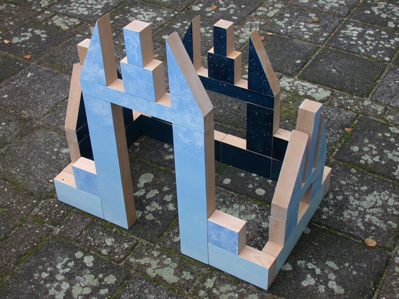 Luchtkasteel  hout 100 x 75 x 65 cm