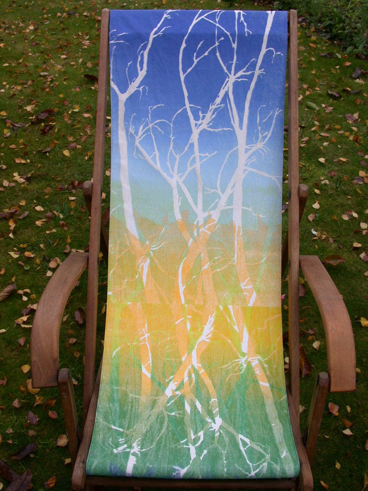 Takkenrust  strandstoel met zeefdruk 160 x 88 cm